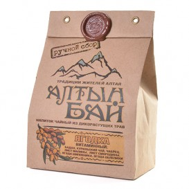 Чайный напиток из дикорастущих трав «ЯГОДКА» витаминный 100 г (Алтын бай)