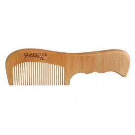 Расческа деревянная с ручкой из персикового дерева CWC 485 17,8 х 5,2 см (Clarette)