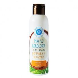 Кокосовое масло для волос Ромашка и шалфей: объем и блеск 150 мл (Мануфактура ДОМ ПРИРОДЫ)