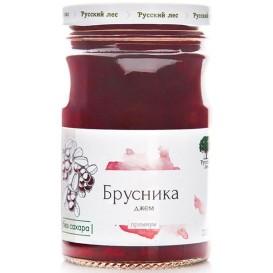 """Джем """"Брусника"""" без сахара, премиум 220 г (Русский лес)"""