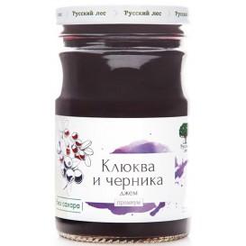 """Джем """"Клюква и черника"""" без сахара, премиум 220 г (Русский лес)"""