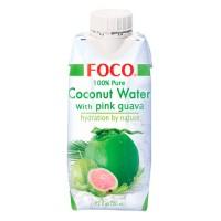 """Кокосовая вода """"FOCO"""" с розовой гуавой БЕЗ САХАРА 330 мл"""
