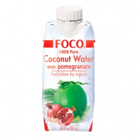 "Кокосовая вода ""FOCO"" с соком граната БЕЗ САХАРА 330 мл"