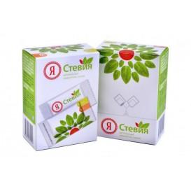 Стевия в пакетиках-саше, стевиозид ( 1п=2 ч.л. сахара) 25 шт (ООО «Стевия Групп» ТМ «Я Стевия»)