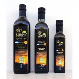 Оливковое масло Extra virgin PDO (кислотность 0,2-0,3) в стекле (KURTES)