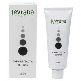 Зубная паста черная «Детокс» с сажей японского дуба 75 мл (Levrana)
