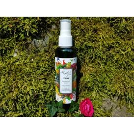 """Тоник """"Крымская роза"""" омоложение и упругость, сияющий цвет для нормальной и чувствительной кожи 100 мл (Медовый рай)"""