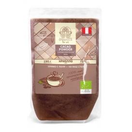 Органический живой (RAW) какао-порошок из элитного сорта бобов Криолло (Criollo) 150 г (Organica For All)
