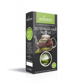 Зеленый чай матча, органик 50 г, 100 г (Polezzno)