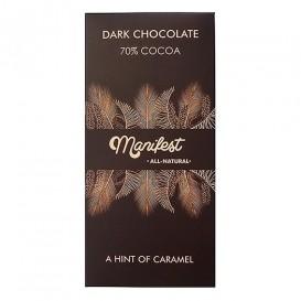 Шоколад на кокосовом сахаре Manifest горький 70% какао 70 г (Гагаринские мануфактуры)