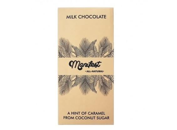 Шоколад на кокосовом сахаре Manifest молочный 46% какао 70 г (Гагаринские мануфактуры)