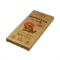 Шоколад На Меду горький АПЕЛЬСИН И ИМБИРЬ 70% какао (Гагаринские мануфактуры)