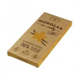 Шоколад На Меду горький БУРБОНСКАЯ ВАНИЛЬ 70% какао (Гагаринские мануфактуры)