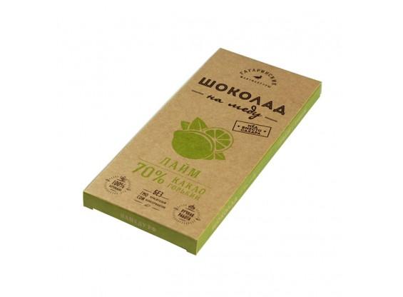 Шоколад На Меду горький ЛАЙМ 70% какао (Гагаринские мануфактуры)