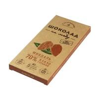 Шоколад На Меду горький МИНДАЛЬ 70% какао (Гагаринские мануфактуры)