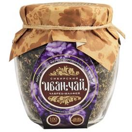 """""""Сибирский иван-чай"""" ферментированный с чабрецом и шалфеем 100 г"""