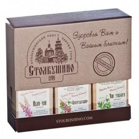 """Чай """"Столбушинский"""" в подарочном наборе 3х30г (Столбушино)"""