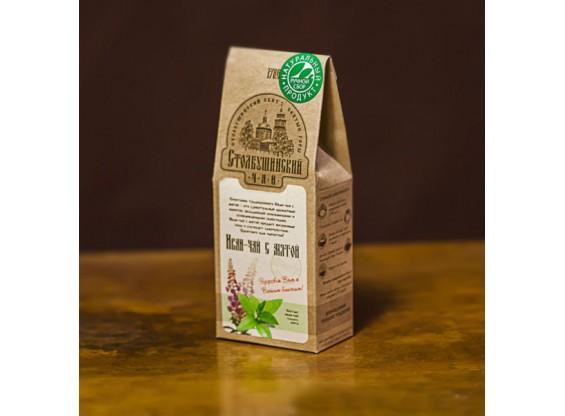 Иван-чай ферментированный с мятой 30 г, 100 г (Столбушино)